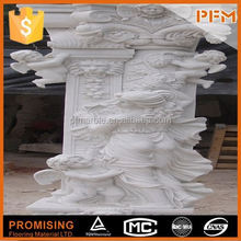 2014 hot sale natural wholesale hand carved stone tibetan mastiff statue for garden