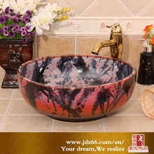 dark and red bowl cerving platter ceramic basin washroom