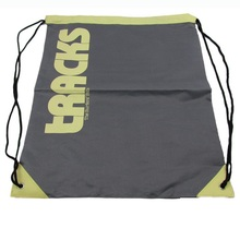 oujia brand Hot sale different styles custom polyester drawstring shopping bag with roll foldable