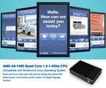 AMD Quad-Core Barebone MINI PC for Full HD Digital Signage Solutions