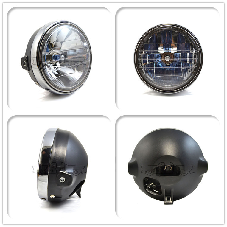 BJ-HLA-009 High Quality ABS plastic custom motorcycle round headlight for cb400