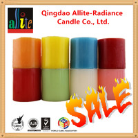 Allite Mutil-color household decorative handcraft pillar candle