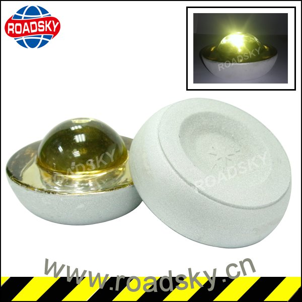Yellow Toughened Glass Reflector Road