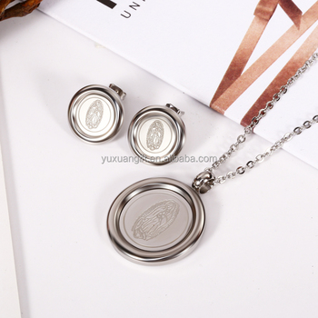 Facotry Direct Sale Silver Color Religious Jewelry Set