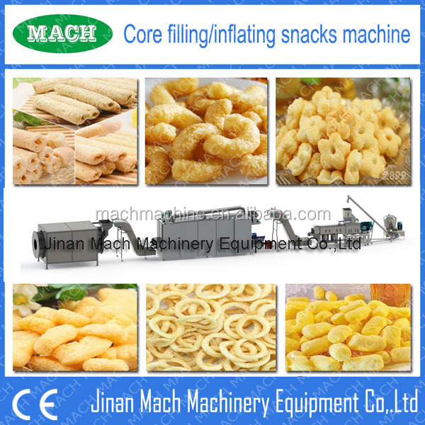 snacks food extruding equipment snacks making machine