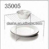 Dinner Plate Shelf, Made of Steel, in White Powder Coating