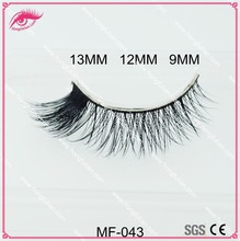100% handmade real mink fur false eyelash strip thick fake faux eyelashes