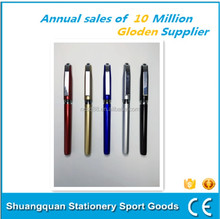 Ballpoint pen manufacturer promotional plastic material metal clip pen customized logo and color ballpen
