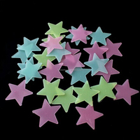 Night glow in dark star wall cling customized wall sticker room decoration
