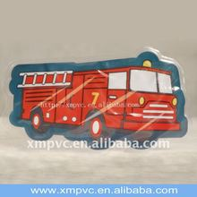 High quality pvc patch in bus shape XYL-PG001