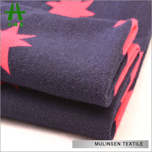 Mulinsen Textile Soft Feeling Star Printed Stretch Jersey Sweater Tee Shirt Cotton Knit Fabric