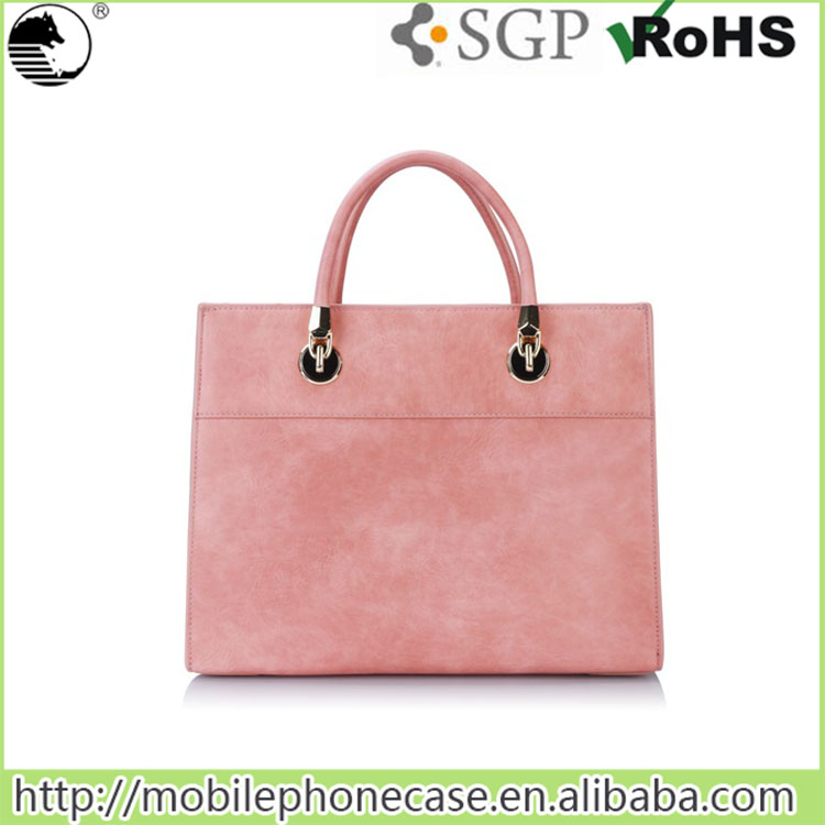 Alibaba Bulk Buy Pink Women Tote Bag PU Leather Vintage Ladies Shoulder Bags