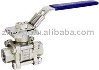 3PC Steel Ball Valve With Direct Mounting Pad