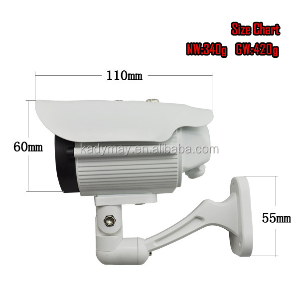 "TOP SELL !!! 1/3""Pixel CMOS(PC1089) 30M IR Waterproof CCTV Camera with 1pc Array LEDs"