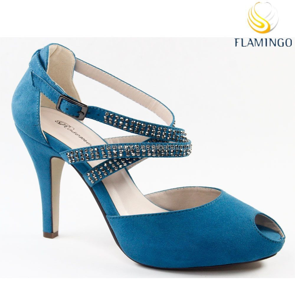 FLAMINGO 2015 LATEST ODM/ OEM Sexy design cross strap diamonds high heel sandals for women Platform shoes
