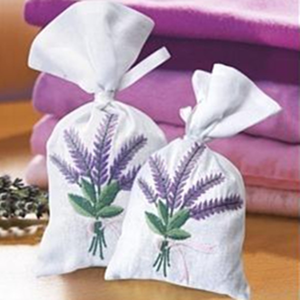 Good smell high quality linen or canvas perfume pouch