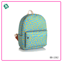 The new green bottom dense yellow duck school backpack with leisure fashion Satchel