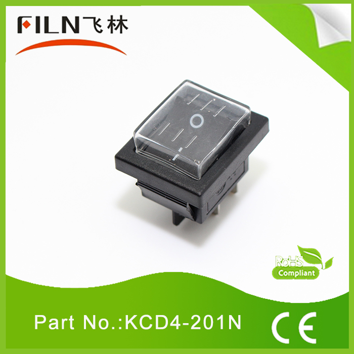filn waterproof LED illuminated 12vdc rocker switch