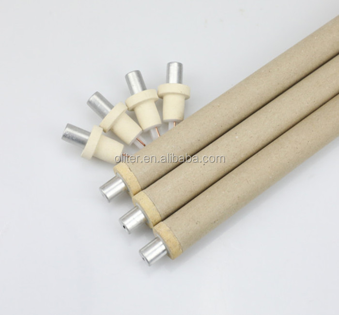 standard tungsten rhenium 604 triangle expendable disposable thermocouple for liquid steel