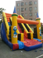 Hot!!commercial inflatable wet dry slide