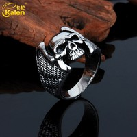 Factory Supply Fashion Skull Ring Stainless Steel Casting Ring