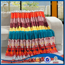 high quality printed colorful fleece blanket coral colored throw blanket