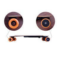 2017 newest 4 Wheels Self Balancing Scooter 40km/h koowheel Electric Skateboard with free shipping
