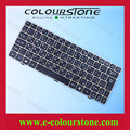 Hot selling laptop keyboard for U135 RU Black with golden frame