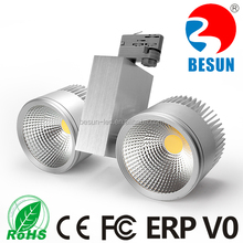 High quality high lumin 2x40w dimmable 3 phase 4 wires commercial cob led track light + Lifud drive