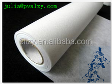 pva water soluble embroidery interlining non-woven fabric for cold water