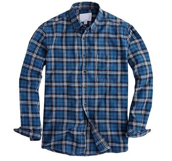 Men flannel plaid shirts long sleeve checked fashion shirt