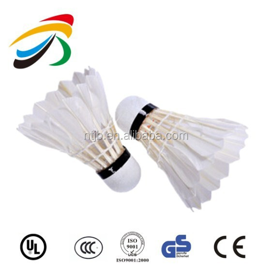 Stable flying feather shuttlecock shuttle cock/high-quality badminton shuttlecock