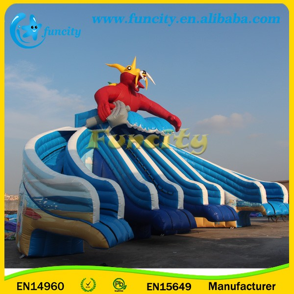 Giant Inflatable Parrot Water Park Slide for Sales