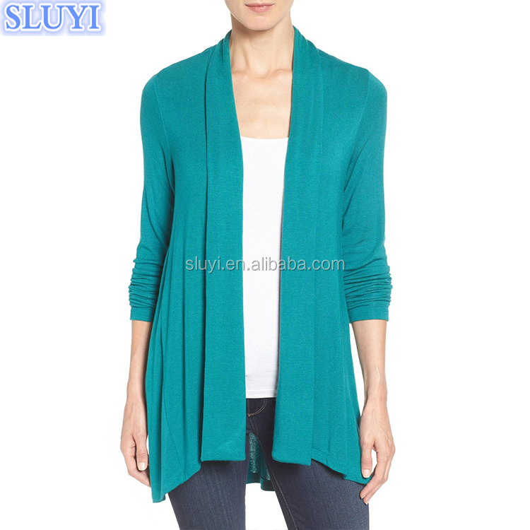 high quality ladies open front cardigan wholesale women custom knitted cardigans cheap cashmere design cardigan without buttons