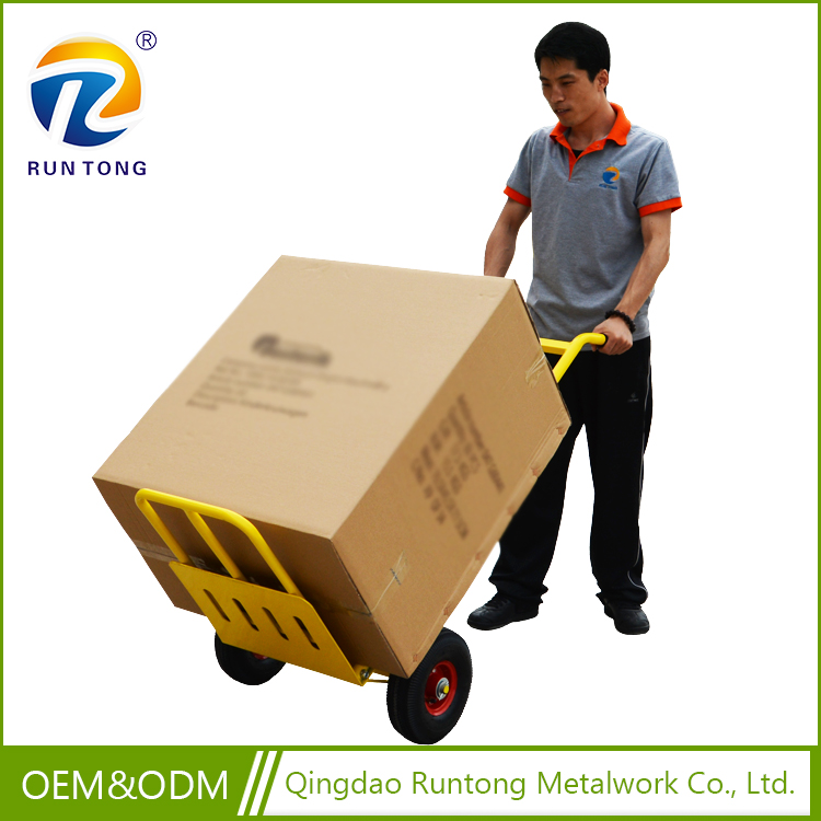 Wholesale High Quality Metal Stailless Steel Garden Tool Push Cart Hand Trolley