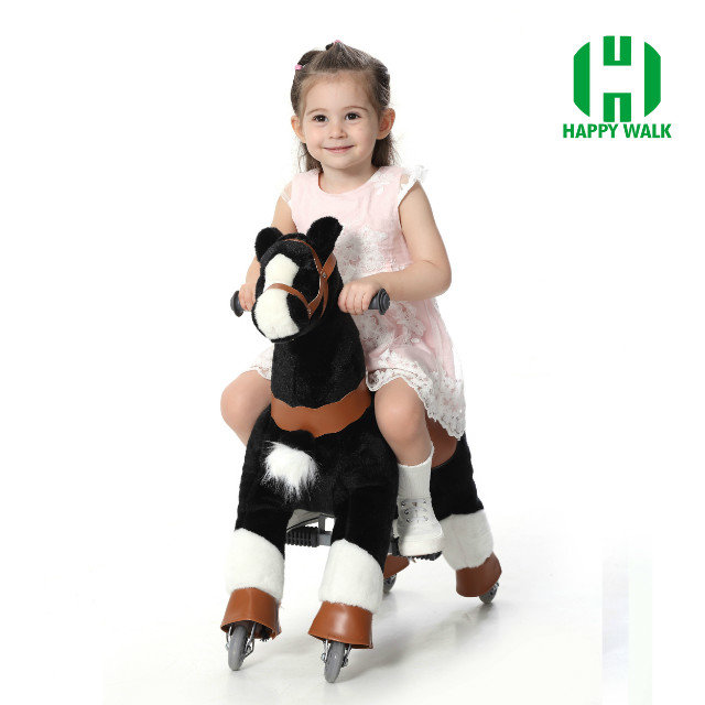 HI CE best price life size stick horse toy for kids on wheels