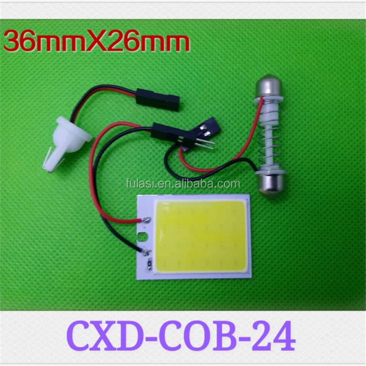 Automobiles & Motorcycle 12v led light dome bulb 24 led festoon COB reading auto lighting system Quality Choice