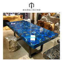 Customized Design Size Agate Coffee Table Top For Living Room
