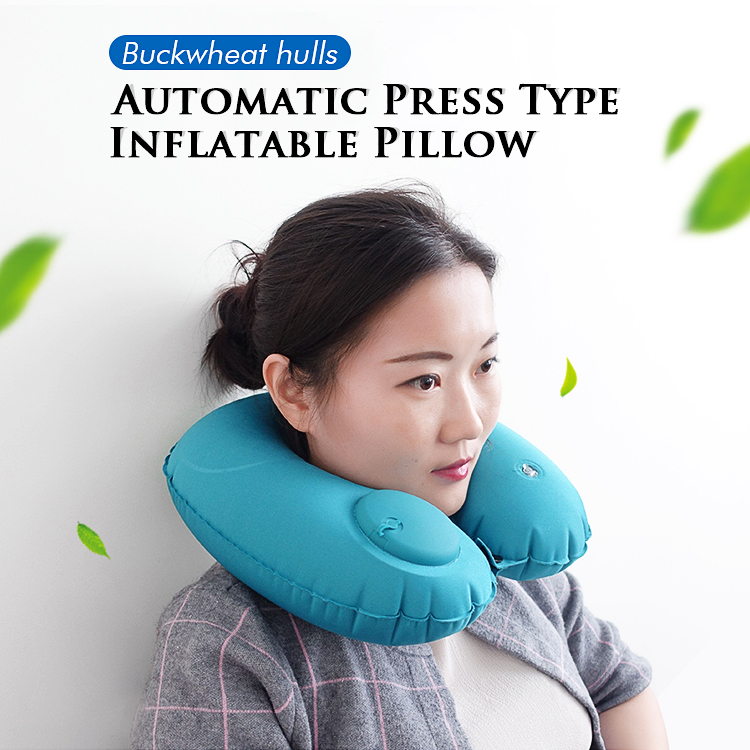 Inflatable Travel Pillow - Heated Neck Pillow For Neck Therapy, Inflatable U Shape Airplane Pillow