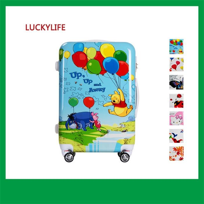 mini child protection minions trolley plastic pc suitcases