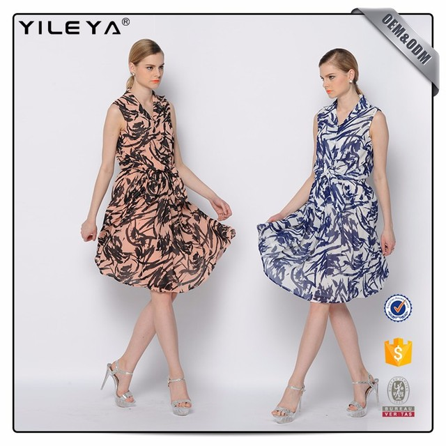 Oem Services Clothing Online Shopping New Ladies Dress Long Sle