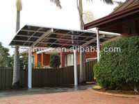 Strong!! PC Arched roof Aluminum Canopy Carports