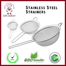 Good Quality Stainless Steel Fine Tea Mesh Strainer Colander Food Rice Vegetable Strainer