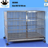 2016 good quality lage stainless steel pet dog cage