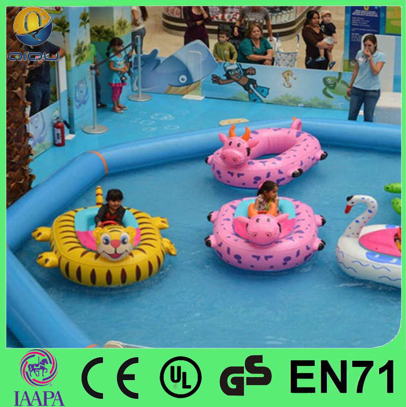 Shanghai QiQu 2016 kids and adults inflatable aqua electric bumper boat for sale