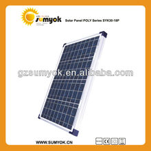 top quality poly solar panel 30w 18v from Guangzhou Solar Factory