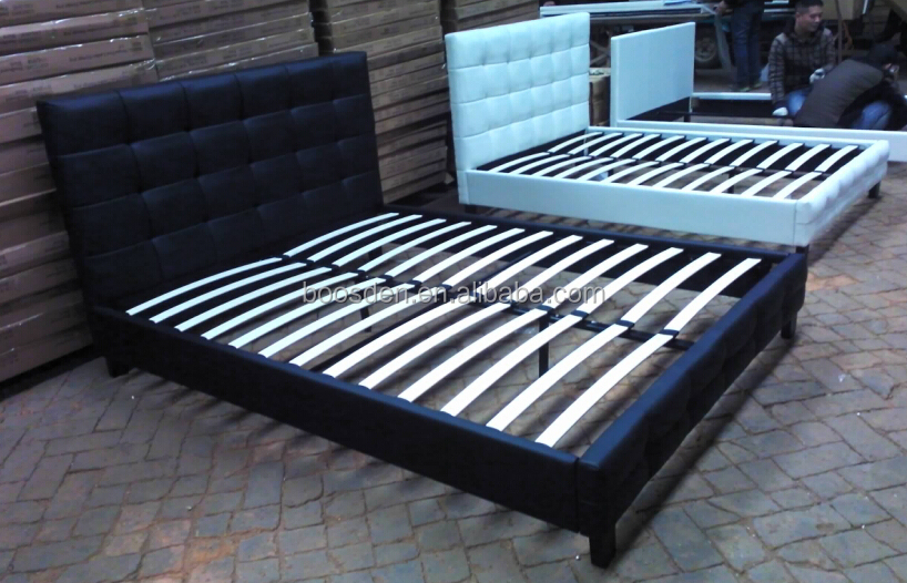 hot selling handsome comfortable PU/leather wooden bed frame BSD-450125