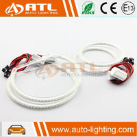 ATL hot sale universal cars motorcycle no cover 12-24v amber led cob halo ring angel eyes