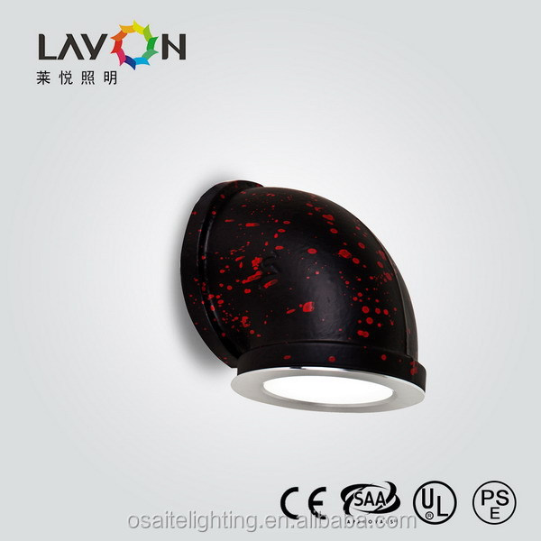new design black with red dot industrial led wall lamp for furniture living room