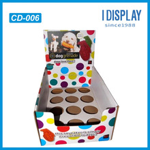 Custom color printed pet collar cardboard display stand for pet store